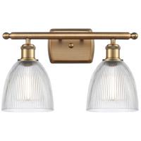 Innovations Lighting 516-2W-BB-G382-LED Castile LED 16 inch Brushed Brass Bath Vanity Light Wall Light, Ballston