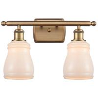 Innovations Lighting 516-2W-BB-G391-LED Ellery LED 16 inch Brushed Brass Bath Vanity Light Wall Light, Ballston
