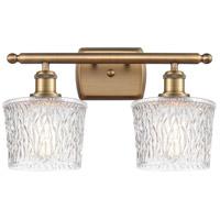 Innovations Lighting 516-2W-BB-G402-LED Niagra LED 16 inch Brushed Brass Bath Vanity Light Wall Light Ballston