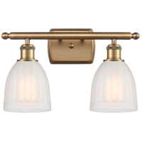 Innovations Lighting 516-2W-BB-G441-LED Brookfield LED 16 inch Brushed Brass Bath Vanity Light Wall Light, Ballston