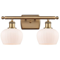 Innovations Lighting 516-2W-BB-G91 Fenton 2 Light 16 inch Brushed Brass Bath Vanity Light Wall Light Ballston
