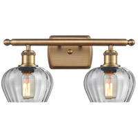 Innovations Lighting 516-2W-BB-G92 Fenton 2 Light 16 inch Brushed Brass Bath Vanity Light Wall Light Ballston