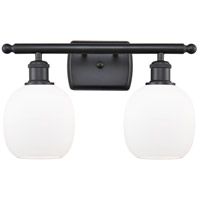 Innovations Lighting 516-2W-BK-G101-LED Belfast LED 16 inch Matte Black Bath Vanity Light Wall Light Ballston
