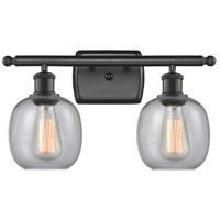 Matte Black Glass Bathroom Vanity Lights