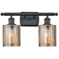 Innovations Lighting 516-2W-BK-G116-LED Cobbleskill LED 16 inch Matte Black Bath Vanity Light Wall Light Ballston