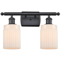 Innovations Lighting 516-2W-BK-G341-LED Hadley LED 16 inch Matte Black Bath Vanity Light Wall Light Ballston