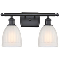 Innovations Lighting 516-2W-BK-G441-LED Brookfield LED 16 inch Matte Black Bath Vanity Light Wall Light Ballston