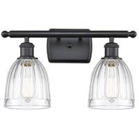 Innovations Lighting 516-2W-BK-G442-LED Brookfield LED 16 inch Matte Black Bath Vanity Light Wall Light Ballston