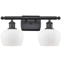 Innovations Lighting 516-2W-BK-G91-LED Fenton LED 16 inch Matte Black Bath Vanity Light Wall Light Ballston