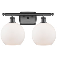 Innovations Lighting 516-2W-OB-G121 Athens 2 Light 16 inch Oil Rubbed Bronze Bath Vanity Light Wall Light, Ballston photo thumbnail