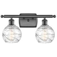 Innovations Lighting 516-2W-OB-G1213-6-LED Small Deco Swirl LED 16 inch Oil Rubbed Bronze Bath Vanity Light Wall Light Ballston