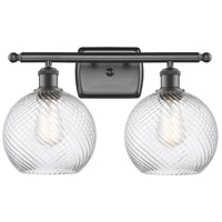 Innovations Lighting 516-2W-OB-G1214-8 Twisted Swirl 2 Light 16 inch Oil Rubbed Bronze Bath Vanity Light Wall Light Ballston
