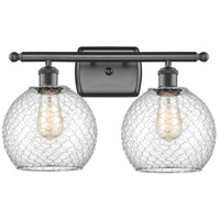 Innovations Lighting 516-2W-OB-G122-8CSN-LED Farmhouse Chicken Wire LED 16 inch Oil Rubbed Bronze Bath Vanity Light Wall Light Ballston