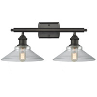Innovations Lighting 516-2W-OB-G132 Disc 2 Light 18 inch Oiled Rubbed Bronze Vanity Light Wall Light