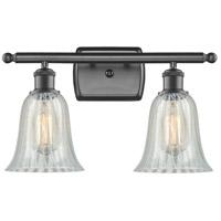 Innovations Lighting 516-2W-OB-G2811 Hanover 2 Light 16 inch Oil Rubbed Bronze Bath Vanity Light Wall Light, Ballston