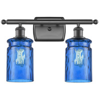 Innovations Lighting 516-2W-OB-G352-BL Candor 2 Light 16 inch Oil Rubbed Bronze Bath Vanity Light Wall Light Ballston