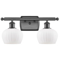 Innovations Lighting 516-2W-OB-G91 Fenton 2 Light 16 inch Oil Rubbed Bronze Bath Vanity Light Wall Light, Ballston