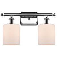 Innovations Lighting 516-2W-PC-G111 Cobbleskill 2 Light 16 inch Polished Chrome Bath Vanity Light Wall Light, Ballston