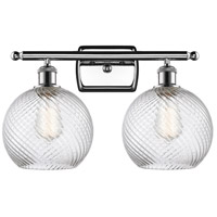 Innovations Lighting 516-2W-PC-G1214-8 Twisted Swirl 2 Light 16 inch Polished Chrome Bath Vanity Light Wall Light Ballston
