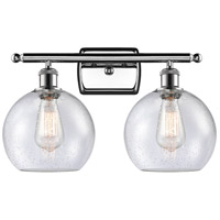 Innovations Lighting 516-2W-PC-G124 Athens 2 Light 16 inch Polished Chrome Bath Vanity Light Wall Light Ballston