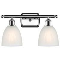 Innovations Lighting 516-2W-PC-G381-LED Castile LED 16 inch Polished Chrome Bath Vanity Light Wall Light, Ballston