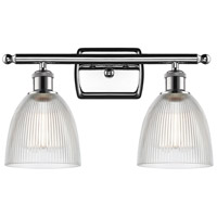 Innovations Lighting 516-2W-PC-G382-LED Castile LED 16 inch Polished Chrome Bath Vanity Light Wall Light, Ballston