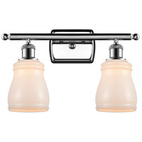 Innovations Lighting 516-2W-PC-G391-LED Ellery LED 16 inch Polished Chrome Bath Vanity Light Wall Light, Ballston