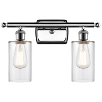 Innovations Lighting 516-2W-PC-G802-LED Clymer LED 16 inch Polished Chrome Bath Vanity Light Wall Light Ballston
