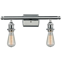 Innovations Lighting 516-2W-PC-LED Bare Bulb LED 16 inch Polished Chrome Bath Vanity Light Wall Light Ballston