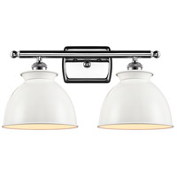 Innovations Lighting 516-2W-PC-M14-W Adirondack 2 Light 18 inch Polished Chrome Bath Vanity Light Wall Light Ballston