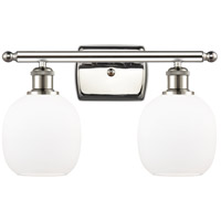 Innovations Lighting 516-2W-PN-G101 Belfast 2 Light 16 inch Polished Nickel Bath Vanity Light Wall Light Ballston