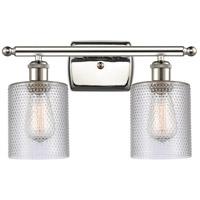 Innovations Lighting 516-2W-PN-G112-LED Cobbleskill LED 16 inch Polished Nickel Bath Vanity Light Wall Light Ballston