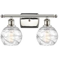 Innovations Lighting 516-2W-PN-G1213-6-LED Small Deco Swirl LED 16 inch Polished Nickel Bath Vanity Light Wall Light Ballston