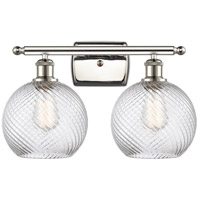 Innovations Lighting 516-2W-PN-G1214-8 Twisted Swirl 2 Light 16 inch Polished Nickel Bath Vanity Light Wall Light Ballston