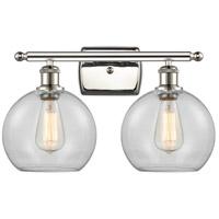 Innovations Lighting 516-2W-PN-G122 Athens 2 Light 16 inch Polished Nickel Bath Vanity Light Wall Light Ballston