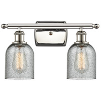 Innovations Lighting 516-2W-PN-G257-LED Caledonia LED 16 inch Polished Nickel Bath Vanity Light Wall Light Ballston