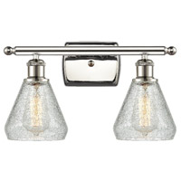 Innovations Lighting 516-2W-PN-G275-LED Conesus LED 16 inch Polished Nickel Bath Vanity Light Wall Light Ballston