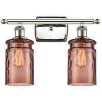 Innovations Lighting 516-2W-PN-G352-TOF Candor 2 Light 16 inch Polished Nickel Bath Vanity Light Wall Light Ballston