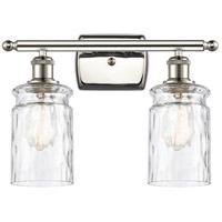 Innovations Lighting 516-2W-PN-G352-LED Candor LED 16 inch Polished Nickel Bath Vanity Light Wall Light, Ballston