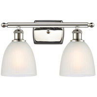 Innovations Lighting 516-2W-PN-G381-LED Castile LED 16 inch Polished Nickel Bath Vanity Light Wall Light, Ballston
