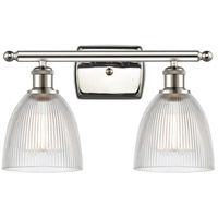 Innovations Lighting 516-2W-PN-G382-LED Castile LED 16 inch Polished Nickel Bath Vanity Light Wall Light, Ballston