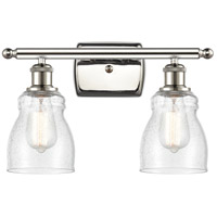 Innovations Lighting 516-2W-PN-G394-LED Ellery LED 16 inch Polished Nickel Bath Vanity Light Wall Light Ballston