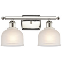 Innovations Lighting 516-2W-PN-G411-LED Dayton LED 16 inch Polished Nickel Bath Vanity Light Wall Light Ballston