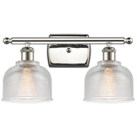 Innovations Lighting 516-2W-PN-G412-LED Dayton LED 16 inch Polished Nickel Bath Vanity Light Wall Light Ballston