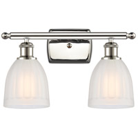 Innovations Lighting 516-2W-PN-G441-LED Brookfield LED 16 inch Polished Nickel Bath Vanity Light Wall Light, Ballston