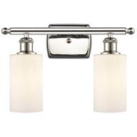 Innovations Lighting 516-2W-PN-G801 Clymer 2 Light 16 inch Polished Nickel Bath Vanity Light Wall Light Ballston