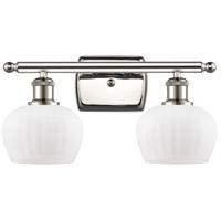 Innovations Lighting 516-2W-PN-G91 Fenton 2 Light 16 inch Polished Nickel Bath Vanity Light Wall Light Ballston