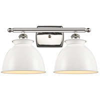Innovations Lighting 516-2W-PN-M14-W Adirondack 2 Light 18 inch Polished Nickel Bath Vanity Light Wall Light Ballston