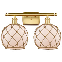 Satin Gold Rope Bathroom Vanity Lights