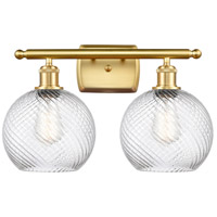 Innovations Lighting 516-2W-SG-G1214-8-LED Twisted Swirl LED 16 inch Satin Gold Bath Vanity Light Wall Light Ballston